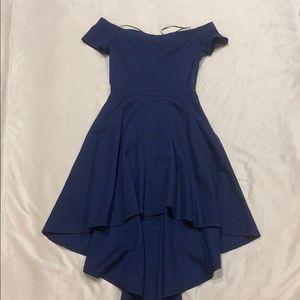 High-low skater dress